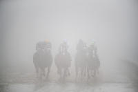Foggy start to the 143rd Preakness Stakes