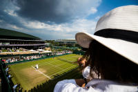 The view from court 18 at Wimbledon tennis Championship